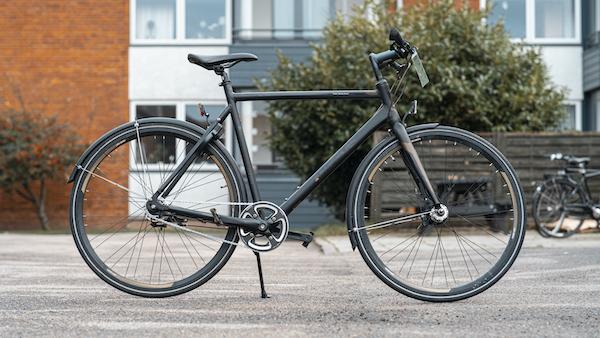 brugt herrecykel i sort - racer cykel stil