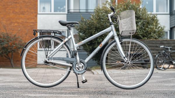 brugt everton damecykel i grå/sølv