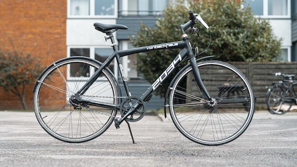brugt herrecykel i københavn. Sort farve i model vonbackhaus 2034