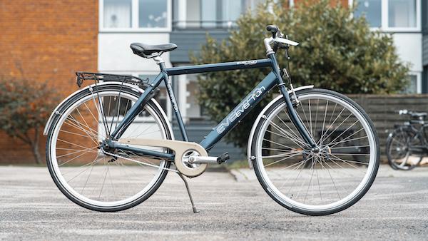 brugt herrecykel i lyseblå - everton